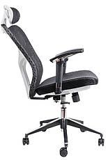 Кресло для врача Barsky Fly-03 Butterfly White/Black, сеточное кресло, белый / черный, фото 3