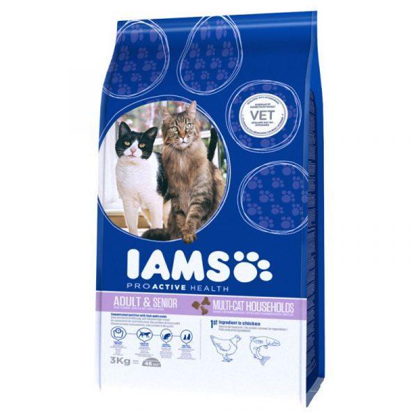 Iams Adult Multi-Cat Salmon & Chicken 15 кг