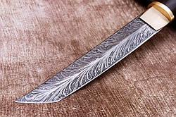 """Нож Танто ручной работы """"Elegant"""" из дамасской стали, 310мм, фото 2"""