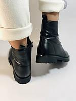 Натуральный мех. Зимние ботинки на плоской подошве. Натуральная кожа. Люкс качество. Polann. Р. 38,39 .Vellena, фото 9