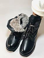 Натуральный мех. Зимние ботинки на плоской подошве. Натуральная кожа. Люкс качество. Polann. Р. 38,39 .Vellena, фото 7