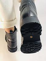 Натуральный мех. Зимние ботинки на плоской подошве. Натуральная кожа. Люкс качество. Polann. Р. 38,39 .Vellena, фото 10