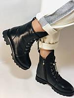 Натуральный мех. Зимние ботинки на плоской подошве. Натуральная кожа. Люкс качество. Polann. Р. 38,39 .Vellena, фото 6