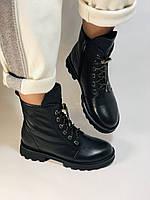 Натуральный мех. Зимние ботинки на плоской подошве. Натуральная кожа. Люкс качество. Polann. Р. 38,39 .Vellena, фото 8