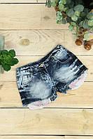 Джинсовые шорты для девочки с паетками