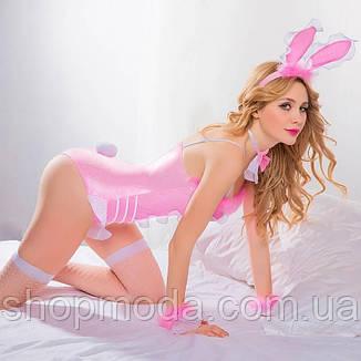 Игровой костюм боди зайки розовый, фото 2