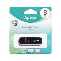 USB Flash накопитель для сохранения данных Apacer AH333 8gb, чёрный, флешка Apacer, флешки
