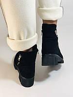 Натуральный мех. Люкс качество. Женские зимние ботинки. Натуральная замша .Турция. Mario Muzi. Р.37, 39,40., фото 9