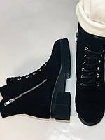 Натуральне хутро. Люкс якість. Жіночі зимові черевики. Натуральна замша .Туреччина. Mario Muzi. Р. 37, 39,40., фото 7