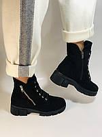 Натуральне хутро. Люкс якість. Жіночі зимові черевики. Натуральна замша .Туреччина. Mario Muzi. Р. 37, 39,40., фото 6