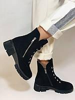Натуральный мех. Люкс качество. Женские зимние ботинки. Натуральная замша .Турция. Mario Muzi. Р.37, 39,40., фото 2