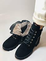 Натуральный мех. Люкс качество. Женские зимние ботинки. Натуральная замша .Турция. Mario Muzi. Р.37, 39,40., фото 5