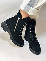 Натуральне хутро. Люкс якість. Жіночі зимові черевики. Натуральна замша .Туреччина. Mario Muzi. Р. 37, 39,40., фото 3