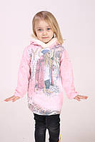 Туника для девочки с капюшоном (розовая)