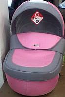 Коляска Adamex Barletta PIK 21 розовый строчка-серый лен, фото 1