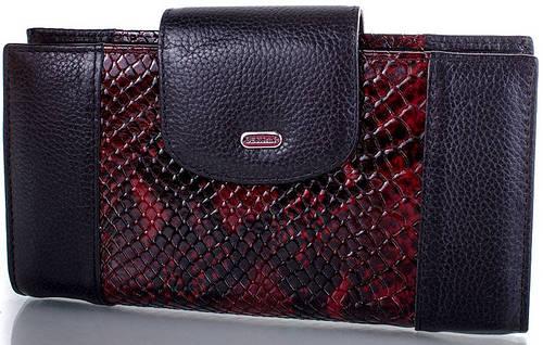 Нарядный кошелек из качественной кожи  DESISAN (ДЕСИСАН) SHI212 1ZM-vinous (бордовый)
