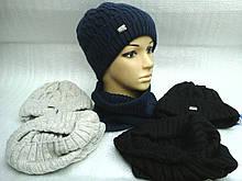 Зимняя шапочка с отворотом