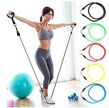 Набор трубчатых эспандеров для фитнеса и упражнений 5 шт, фото 3