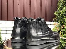 Чоловічі зимові черевики (напівчеревики) VanKristi Black,на хутрі, фото 3