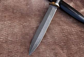 """Авторский нож ручной работы из дамасской стали и граба """"Кинжал"""", 340мм, фото 3"""