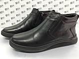 Комфортні шкіряні демісезонні черевики на блискавці Detta, фото 2