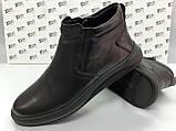 Комфортні шкіряні демісезонні черевики на блискавці Detta, фото 3