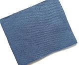 Зимний детский синий набор: шапка с флисовой подкладкой + вязаный снуд - хомут для мальчика 1 - 2 - 3 - 4 года, фото 5