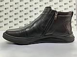 Комфортні шкіряні демісезонні черевики на блискавці Detta, фото 4