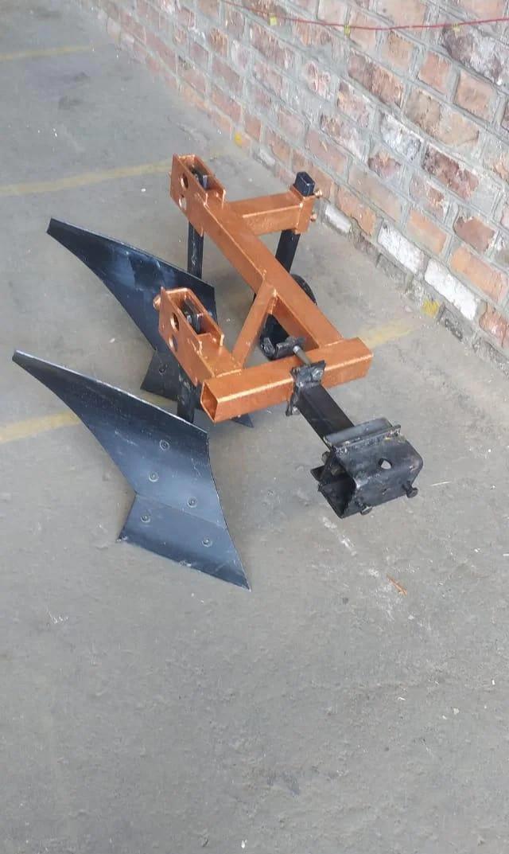 Плуг мотоблочный двох корпусний 2*20 з опорним колесом, подовжена зчіпка