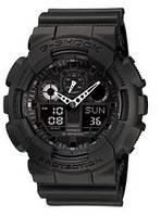 Спортивні чоловічі наручні годинники Casio G-Shock ga-100 репліка, чорний, 11 функцій, наручні годинники, G-SHOCK,