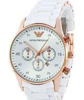 Ручні годинники ARMANI з браслетом БІЛІ