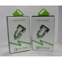 Автомобильное зарядное устройство Qualcomm Fast Charger 3.0/3.1A, зарядное для техники Qualcomm