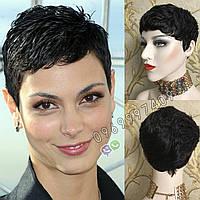 💎Натуральный парик женский. Короткая стрижка. Чёрный из натуральных волос