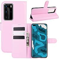 Чехол-книжка Litchie Wallet для Huawei P40 Pro Pink