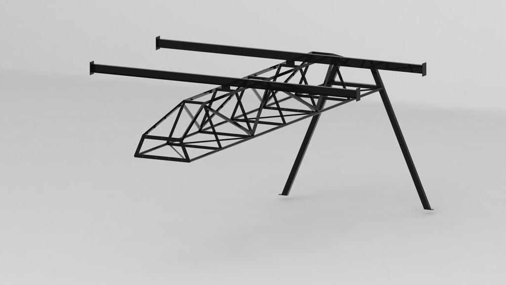 Проектирование изготовление, 3д визуализация ТRX тренажера 6