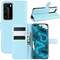 Чехол-книжка Litchie Wallet для Huawei P40 Pro Blue
