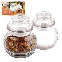 """Банка стеклянная для хранения """"Stenson"""" MS-0227 в наборе 2шт, 150мл, герметик, 9*7см, Кухонные аксессуары,"""