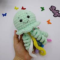 Брязкальце для дитини ручна робота в'язана іграшка медуза