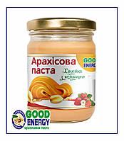 Натуральная арахисовая паста с Клубников без сахара 250 гр, фото 1