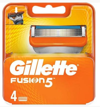 Сменные кассеты Gillette Fusion, на 5 лезвий (4шт.), фото 2