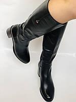 Женские осенне-весенние сапоги на среднем каблуке. Натуральная кожа. Люкс качество. Molka. Р. 37.38.39, фото 3