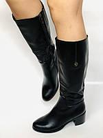 Жіночі осінньо-весняні чобітки на середньому каблуці. Натуральна шкіра. Люкс якість. Molka. Р. 37.38.39, фото 4