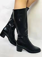 Женские осенне-весенние сапоги на среднем каблуке. Натуральная кожа. Люкс качество. Molka. Р. 37.38.39, фото 9