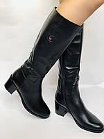 Женские осенне-весенние сапоги на среднем каблуке. Натуральная кожа. Люкс качество. Molka. Р. 37.38.39, фото 7