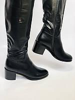 Жіночі осінньо-весняні чобітки на середньому каблуці. Натуральна шкіра. Люкс якість. Molka. Р. 37.38.39, фото 10