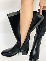 Жіночі осінньо-весняні чобітки на середньому каблуці. Натуральна шкіра. Люкс якість. Molka. Р. 37.38.39, фото 8