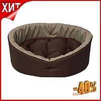 Лежак для собак и кошек Коричневый с бежевым, Кровать для домашних животных