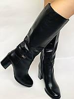 Женские осенне-весенние сапоги на среднем каблуке. Натуральная кожа. Люкс качество. Molka. Р. 37.38.39, фото 2