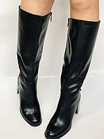Женские осенне-весенние сапоги на среднем каблуке. Натуральная кожа. Люкс качество. Molka. Р. 37.38.39, фото 6