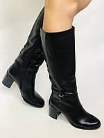 Женские осенне-весенние сапоги на среднем каблуке. Натуральная кожа. Люкс качество. Molka. Р. 37.38.39, фото 4